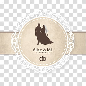 Wedding invitation Save the date, Wedding Cover, Alice & Mi, logo PNG clipart