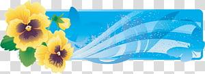 Web banner , floral banner PNG clipart
