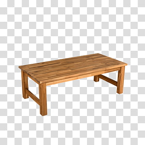 Bench Teak Metal Polyrattan Material, wooden table PNG