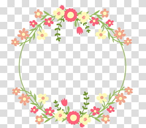 wedding flower frame PNG