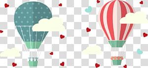 Euclidean Hot air balloon, I love hot air balloon PNG