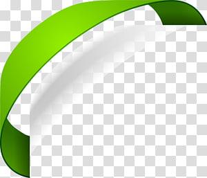 Green Label, Green ribbon label PNG