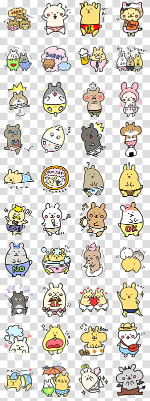 Sticker Drawing Emoticon , Kanahei PNG clipart
