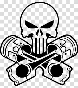 Car Decal Sticker Punisher Human skull symbolism, car PNG clipart