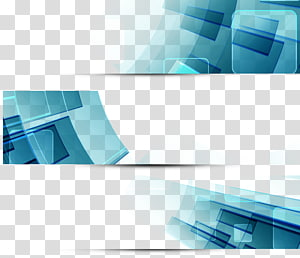 blue and black , Graphic design Web banner, Science and technology banner PNG