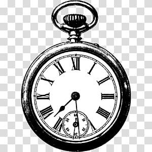 Alarm clock Antique , Vintage Clock PNG