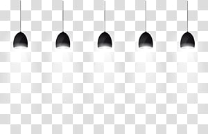 five black pendant lamp illustration, Black and white Pattern, Wall Washer PNG clipart