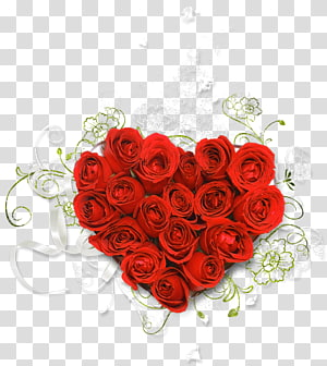 Rose Heart Flower bouquet , HEART FLOWER PNG