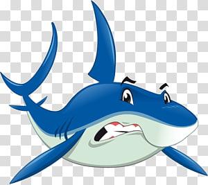 Shark Jaws Benthic zone, Cartoon shark PNG clipart