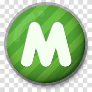 round green and white m logo, Letter M Green Roundlet PNG