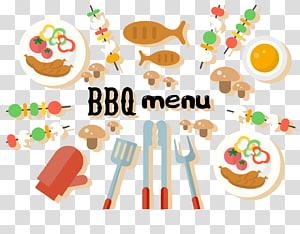 BBQ menu art, Barbecue Logo Euclidean , BBQ barbecue PNG clipart