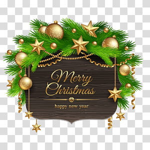 merry christmas-printed wall decor, Royal Christmas Message Illustration, Christmas tag PNG