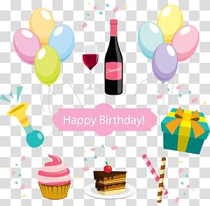 painted birthday party PNG clipart