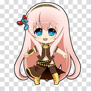 Chibi Megurine Luka Drawing Vocaloid Anime, Chibi PNG clipart