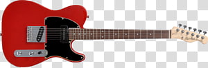 Electric guitar Tiple Squier Jim Root Telecaster Fender Telecaster, red sakura PNG clipart