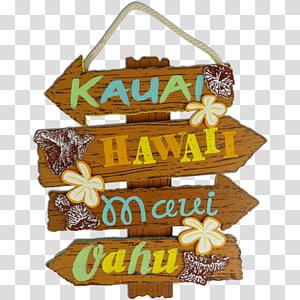 Hawaiian Maui Aloha Ohana, wood signs PNG