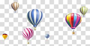 Hot air balloon Airplane, hot air balloon,balloon, assorted-color hot air balloons illustration PNG clipart