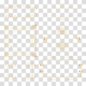 Symmetry Angle Pattern, gold frame PNG clipart