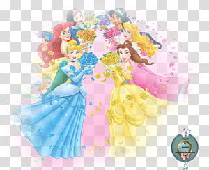 Belle Disney Princess Cinderella Snow White, Disney Princess PNG clipart