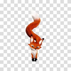 red fox cartoon illustration, Fox Drawing Cartoon Illustration, Cartoon Fox PNG clipart