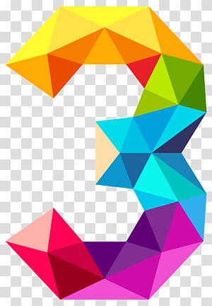 Monochromatic triangle Color Ramsey's theorem Complete graph, Colourful Triangles Number Three , multicolored 3 illustration PNG