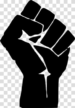 Raised fist 1968 Olympics Black Power salute , light music microphone PNG