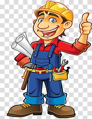 man holding printer paper illustration, Construction worker Architectural engineering , Construction worker PNG