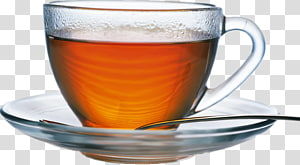 White tea Coffee Green tea Cup, Glass cup PNG