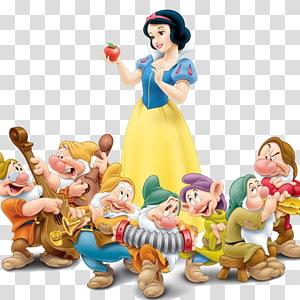 Seven Dwarfs Snow White Evil Queen Dopey Grumpy, snow white PNG clipart
