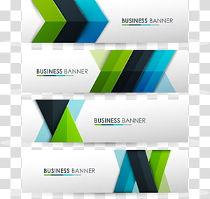 business banner collage, Web banner Logo, Color banners material PNG