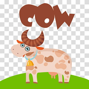 Dairy cattle Milk Cartoon , Dairy cow PNG