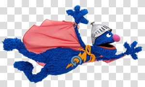 Grover from Sesame Street, Sesame Street Grover Flying PNG