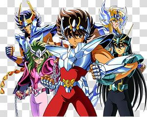 Pegasus Seiya Dragon Shiryū Cygnus Hyoga Aries Mu Phoenix Ikki, others PNG clipart