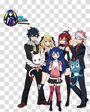Natsu Dragneel Erza Scarlet Gray Fullbuster Wendy Marvell Lucy Heartfilia, fairy tail PNG clipart