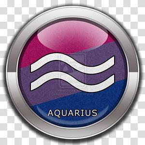 Bisexual pride flag Bisexuality Aquarius Rainbow flag Pride parade, aquarius PNG clipart