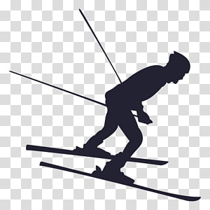 Ski Poles Cross-country skiing Silhouette, skiing PNG clipart