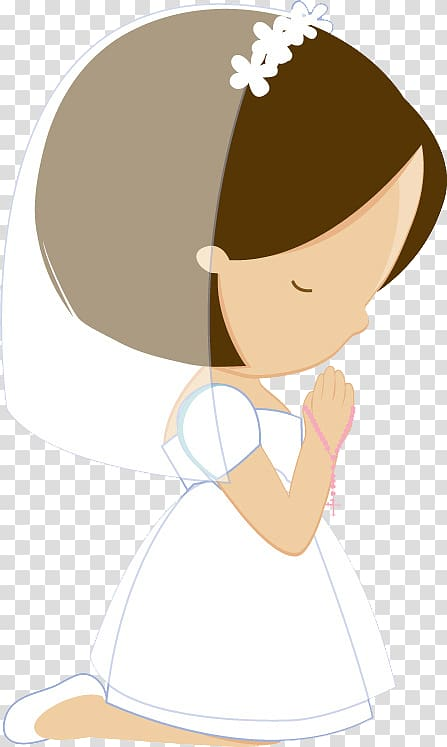 woman kneeling down and praying , First Communion Child Eucharist Oroigarri Baptism, Primera comunion PNG clipart