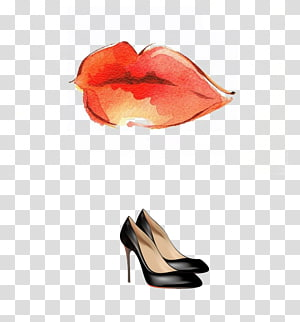 Lip balm Drawing Fashion illustration Illustration, Lipstick heels buckle-free material PNG clipart