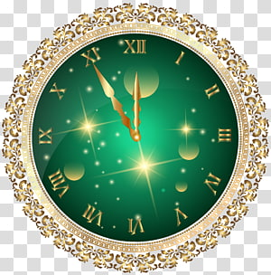 New Year\'s Eve New Year\'s Day Christmas , new year clock PNG clipart