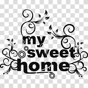 Wall decal Home Sticker House, Home Sweet Home PNG clipart