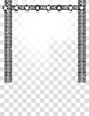 black truss system animated illustration, Stage lighting PNG clipart