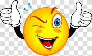 Smiley Wink Emoticon , Emoticons PNG clipart