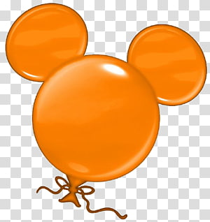 orange Mickey Mouse balloon, Minnie Mouse Mickey Mouse Donald Duck The Walt Disney Company , bunting birthday PNG