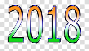New Year 0, 2018 PNG clipart