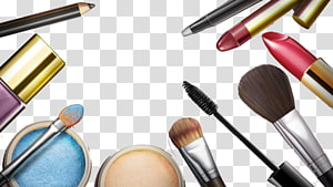 assorted-color makeup brushes and powders, Make-up Cosmetics Cosmetology Soap Lipstick, Makeup Series Appliances PNG clipart