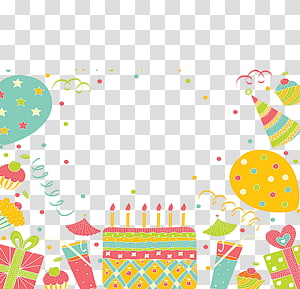 Wedding invitation Birthday cake Greeting card Party, Colored cartoon cake decoration PNG clipart