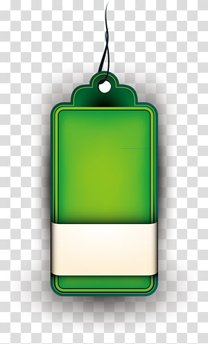 green tag illustration, Rectangle Font, Beautifully tag PNG clipart