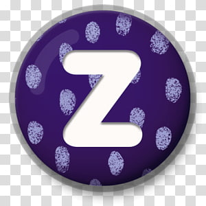letter Z illustration, Letter Z Purple Roundlet PNG