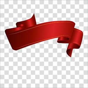 red ribbon, Web banner Ribbon , ribbon PNG