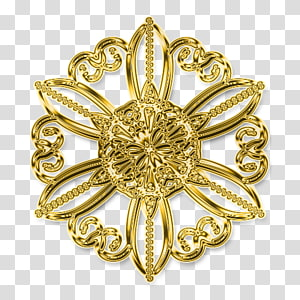 Brooch 01504 Gold Body Jewellery, gold PNG clipart